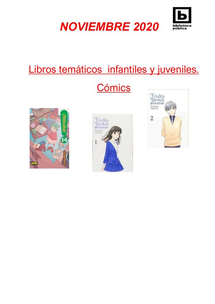 Novedades infantiles / juveniles. Noviembre 2020