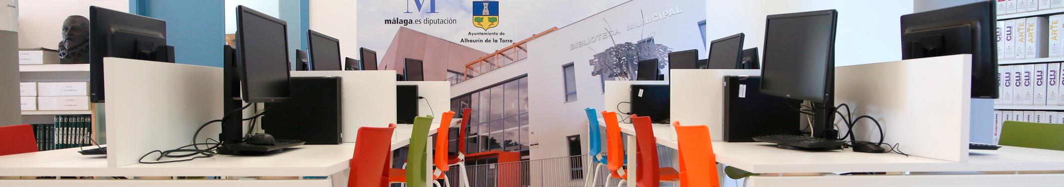 """Servicio de Internet y ofimática Biblioteca Pública Municipal de Alhaurín de la Torre """"Antonio Garrido Moraga"""""""