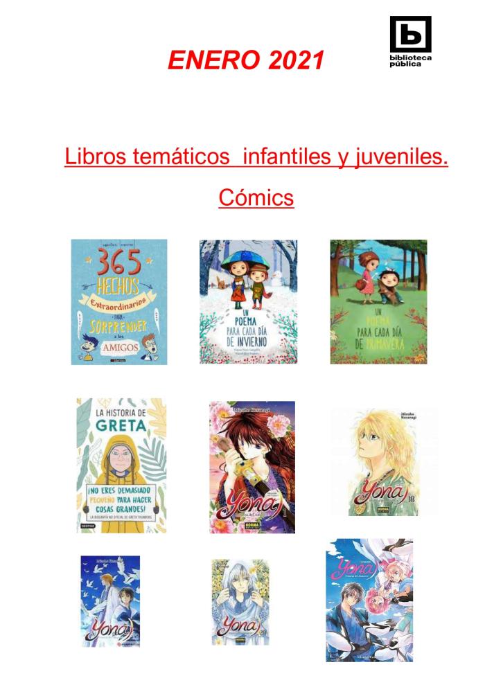 Novedades Infantiles / Juveniles enero 2021