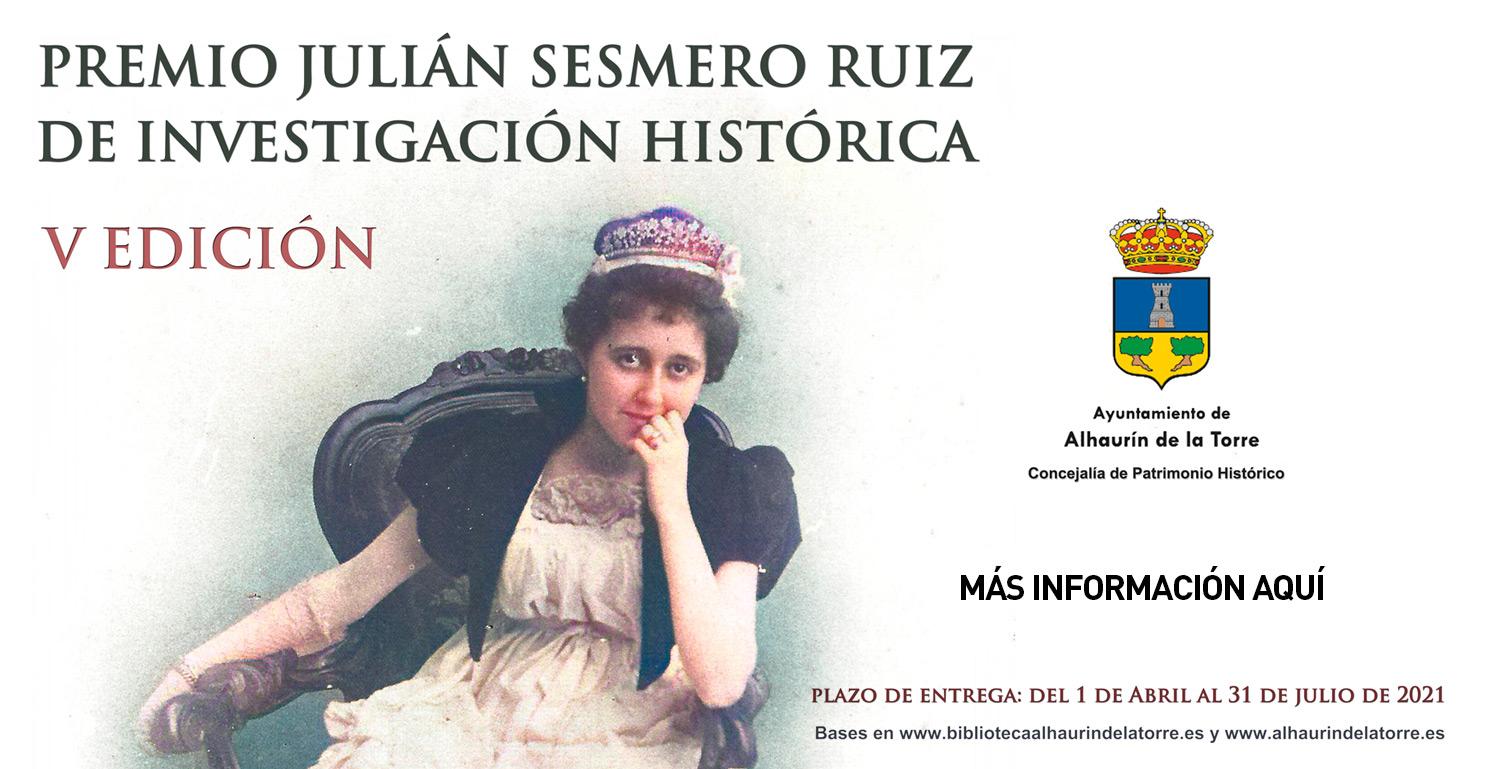 PREMIO JULIÁN SESMERO RUIZ DE INVESTIGACIÓN HISTÓRICA - V EDICIÓN