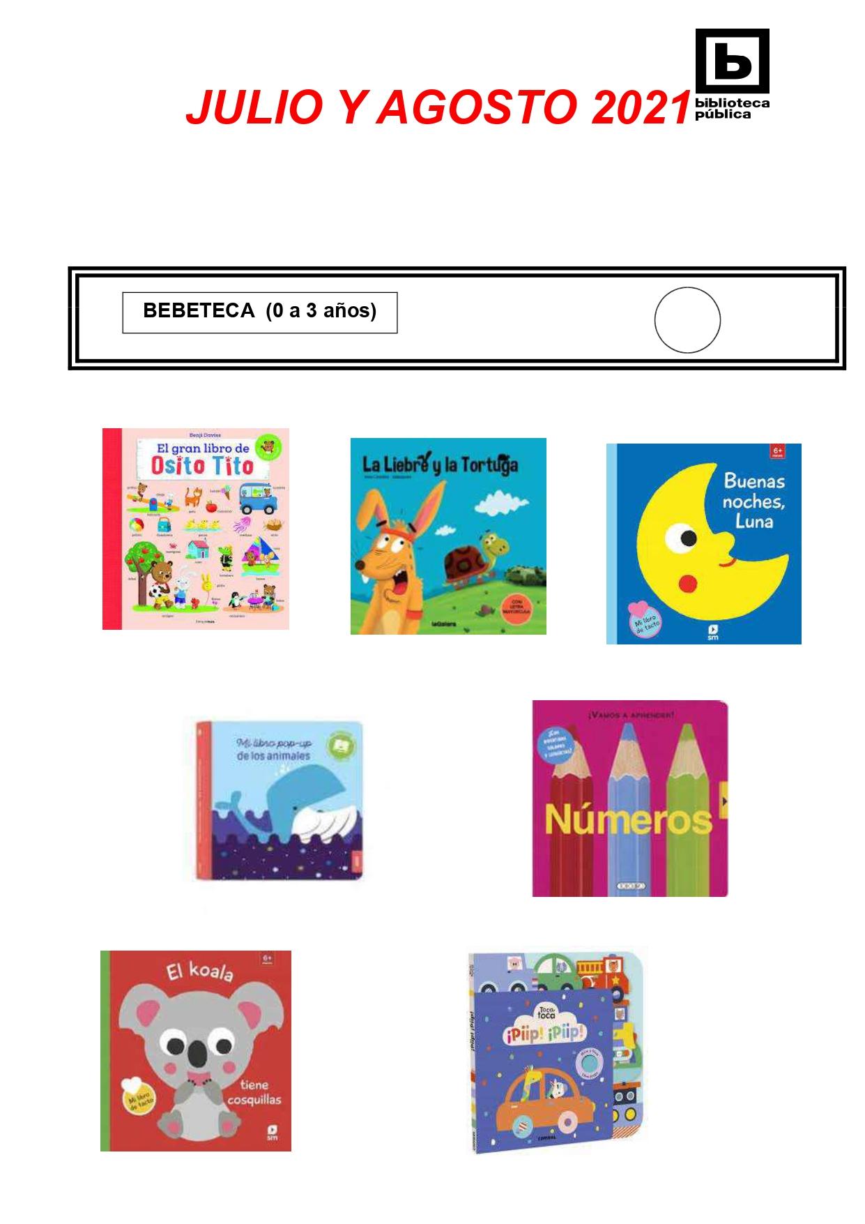NOVEDADES INFANTILES / JUVENILES JULIO Y AGOSTO 2021