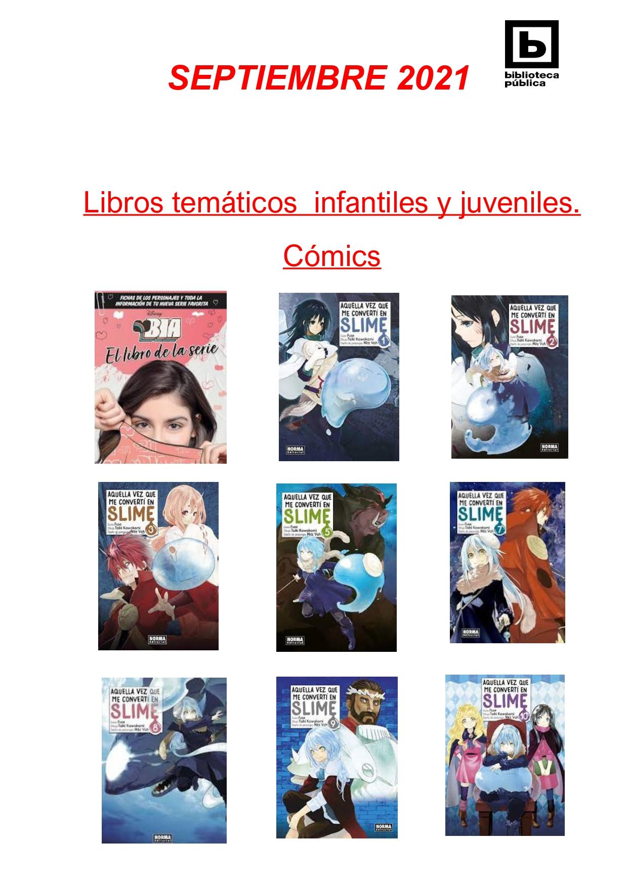 NOVEDADES INFANTILES / JUVENILES SEPTIEMBRE 2021