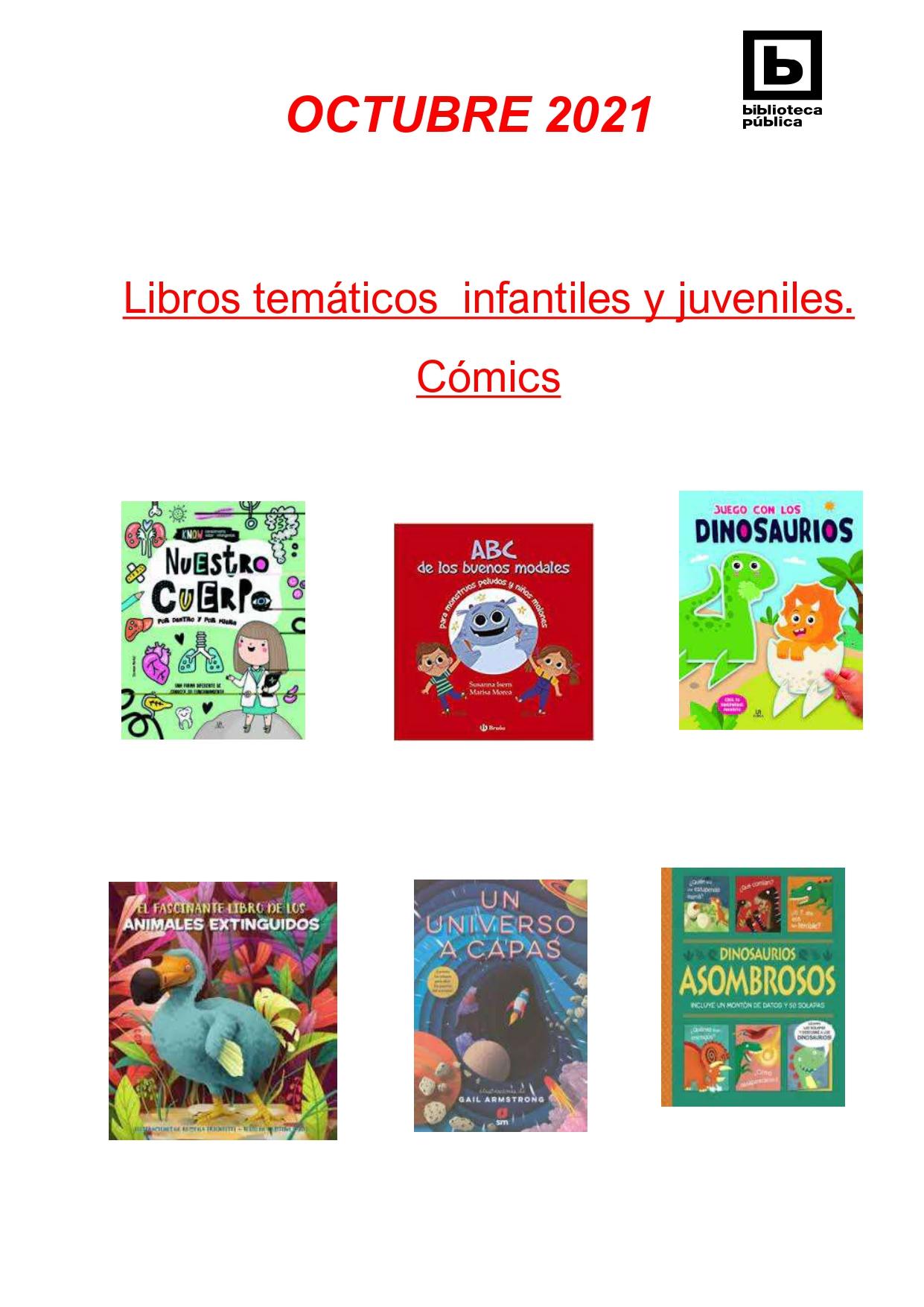 NOVEDADES INFANTILES / JUVENILES OCTUBRE 2021